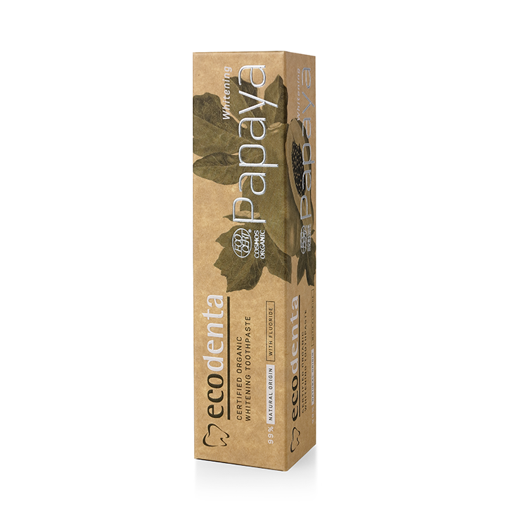Ecodenta 有機天然美白牙膏 Papaya Organic Whitening Toothpaste 100ml