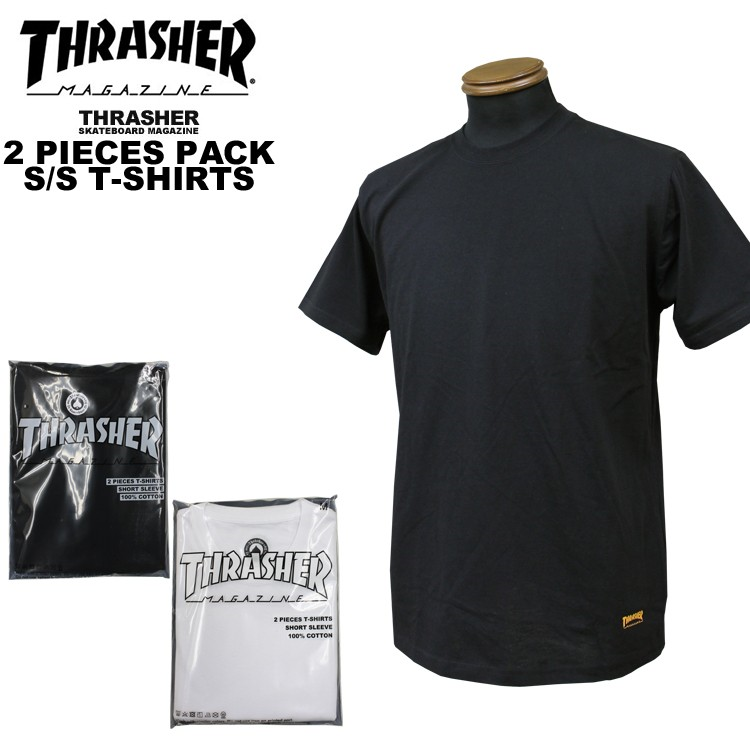 THRASHER  純色短袖 2件 Solid Color S/S T-Shirt 2 pieces